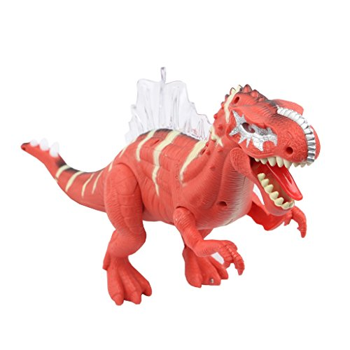 Sun Cling Electronic Toys Red Walking Spinosaurus Dinosaur