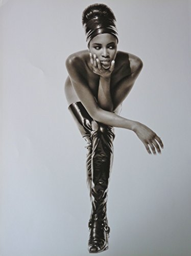 Naomi Campbell   Bending In Boots   Rare Poster Portrait   11 5X15