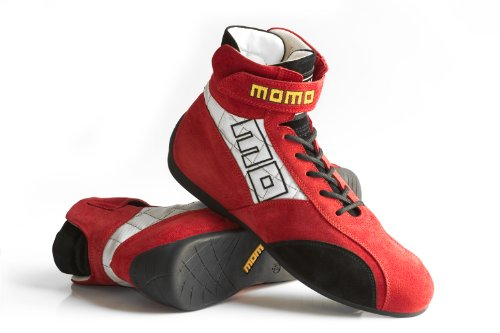 MOMO Fireproof Pro Racer Evo Boot Red / Black - FIA approved Nomex - Size 44 - Part # R574 R44