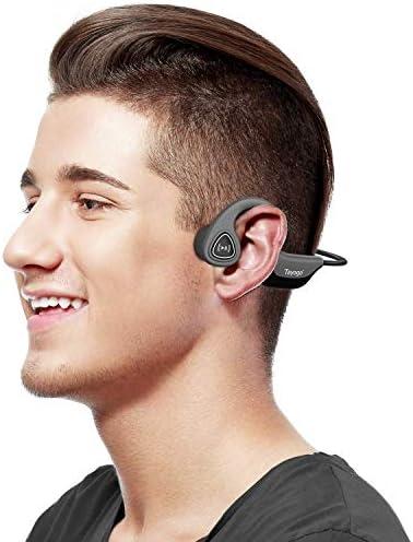 Auriculares De Conducción ósea, Bluetooth 5.0 Conducción ósea Inalámbrica para Correr, Andar En Bicicleta, Correr-Gris