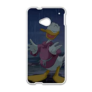 HTC One M7 Phone Case White Mr. Duck Steps Out Daisy Duck DXW6764716