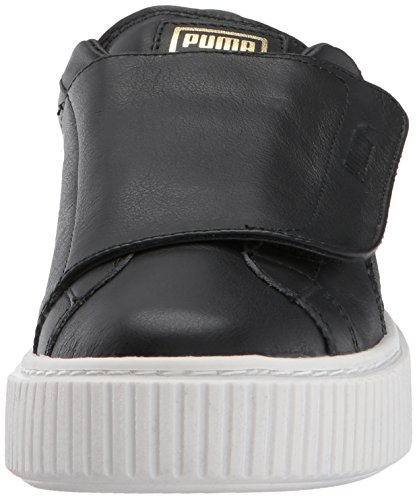 Puma Femmes Panier Plateforme Sangle Wn Sneaker Puma Noir-puma Blanc