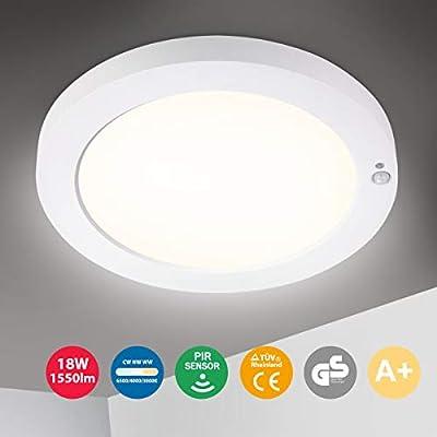 Oeegoo Plafón LED con sensor de movimiento, Lámpara de Techo ...