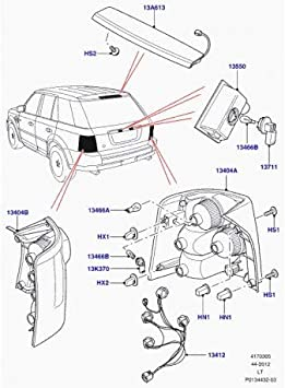 Amazon.com: Genuine LAND ROVER REAR LAMP SOCKET AND WIRE RANGE ROVER SPORT  05-09 OEM NEW YND500100: AutomotiveAmazon.com