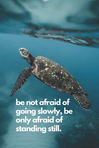 Standing Turtle - be not afraid of going slowly, be only afraid of standing still.: Notebook Journal Diary, 120 Lined pages, 6