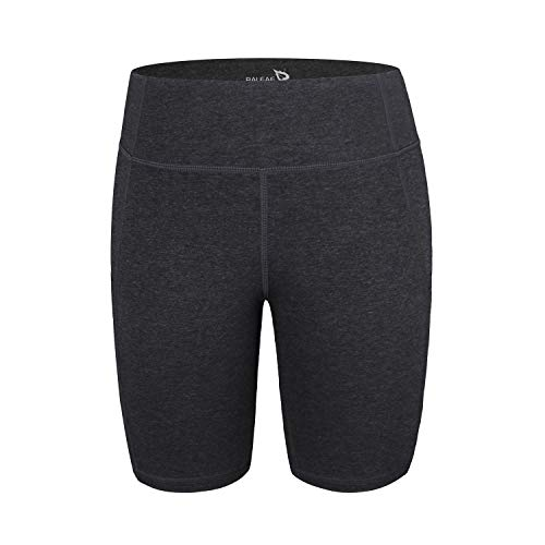 71baf888b01a Baleaf Girl's High Waist Dance Gymnastics Active Shorts Workout Running Out  Pockets Charcoal Size XS
