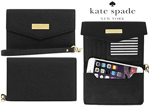- Kate Spade New York Elegant Luxury Saffiano Leather Wristlet for iPhone and Universal Smartphones up to 5.7