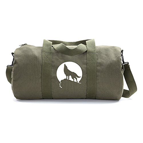 Howling Wolf Moon Heavyweight Canvas Duffel Bag in Olive Review