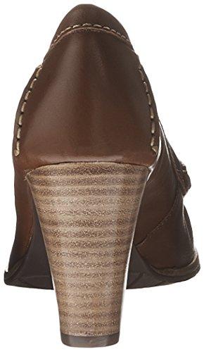 Hush Puppies Women's Castana Dress Pump, Blue, US Cognac Leather
