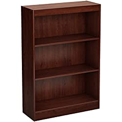 South Shore 3-Shelf Storage Bookcase, Royal Cherry