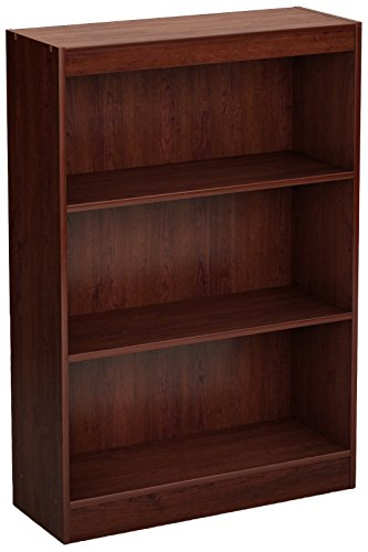 (South Shore 3-Shelf Storage Bookcase, Royal Cherry)