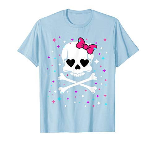 Halloween Shirts For Girls CUTE SKULL AND CROSSBONES T-shirt