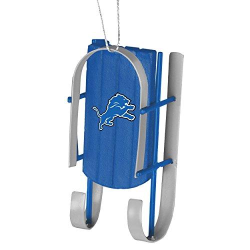Detroit Lions Sled Ornament