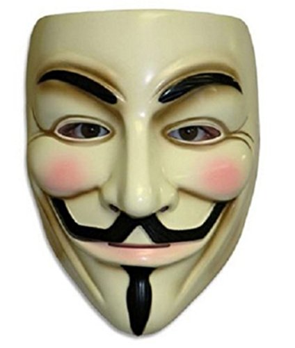 [V for Vendetta Mask Costume Accessory] (Anonymous V For Vendetta Costume)