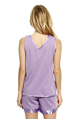 1531-PUR-M Dreamcrest Short Sets / Women Sleepwear / Womans Pajamas,Purple,Medium by Dream Crest (Image #2)