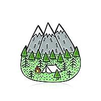 bjduck99 Women Cartoon Camp Mountain Enamel Collar Lapel Brooch Pin Clothes Scarf Jewelry