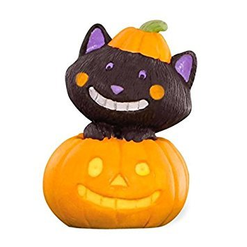 Hallmark Merry Miniatures Halloween Cat in Pumpkin -