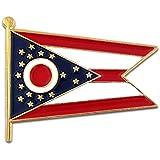 Ohio State Burgee Flag OH Lapel Pin
