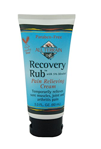 All Terrain Natural Recovery Rub Pain Relieving Cream 3 oz, 2 Count Bundle, Natural Pain Relieving Muscle Cream, Salve for Arthritis, Backpain, Sore (Recovery Rub)