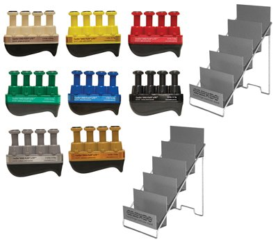 Alimed Digi-Flex LiTE - Set of 8 (1 each: tan, yellow, red, green, blue, black, silver, gold) with 2 Metal Stands