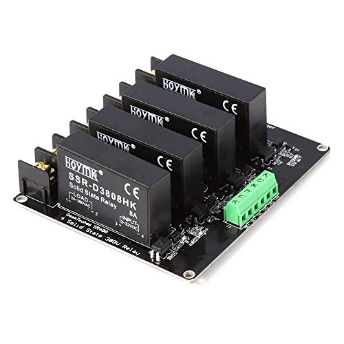 Relay Controller Board - 380V 8A 4 Channels Solid State Relay Module Board SSR Switch Controller Relay Module Board