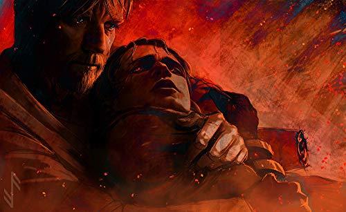 Innerwallz Star Wars: Episode III Men Obi-Wan helps Anakin on Mustafar Two Movies photoMan, 2 wallpaper image download on the desktop PC, Tablet Wall Art, Pop Art, Poster, Art Prints ()