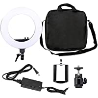 Zomei 18-inch LED Ring Light 50W3200-5500K Warm to Cool Color Temperature Variable Ring Light Includes Ball Head and Phone Adapter for Cameras and Smartphones Youtube Video lighting kit