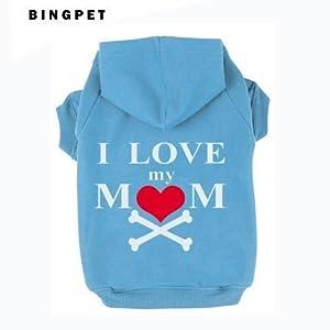 EXPAWLORER I Love My Mommy Dog Cat Fleece Sweatshirt Hoodies Costumes