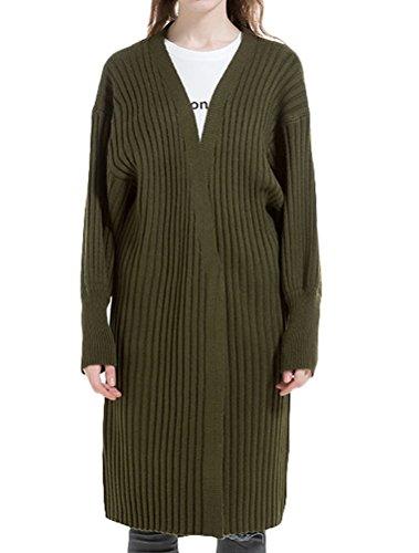 MatchLife - Cárdigan - para mujer Style 2-Blackish Green