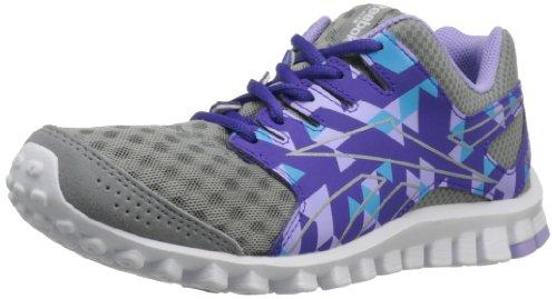 Reebok Footwear Womens RealFlex Scream 3.0 Running Shoe,Flat Grey/Fearless Purple/Crisp Purple/Blue Blink/White,7 M US For Sale