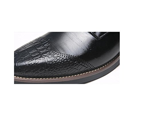 Traspiranti Fondo Punta Scarpe A da Scarpe Tonda Black Scarpe Oxford Business Casual Rete Morbido Uomo Bean Pigro da ZO5zWn7qwx