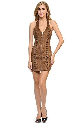 Brown Halter Dress - 1