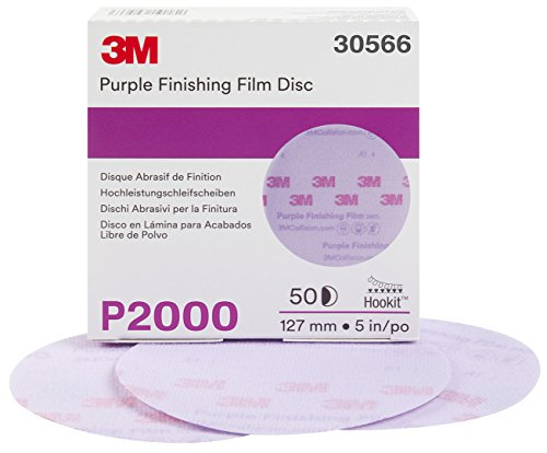 3M 30566-50PK Hookit 5'' Purple Finishing Film Disc, (Pack of 50) by 3M (Image #1)
