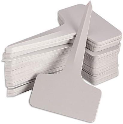 KINGLAKE 300 STK T-Typ Pflanzenschilder Weiß Plastik Pflanzenstecker zum Beschriften Garten Etiketten Stecketiketten Kunststoff