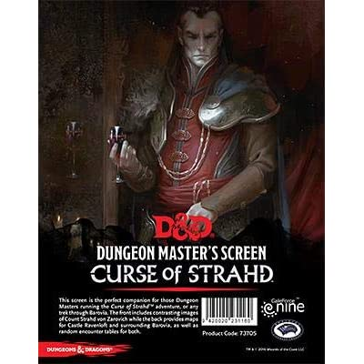 "Dungeons & Dragons - ""Curse of Strahd"" DM Screen: Toys & Games"