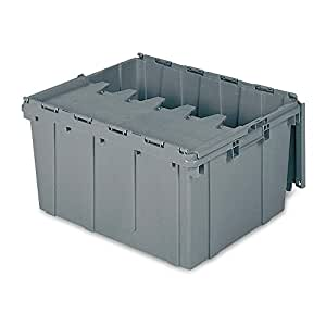 Attached Lid Container, 2.30 cu ft, Gray