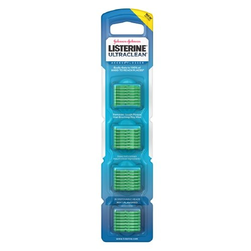 (LISTERINE Ultraclean Access Flosser Refill, Mint 28 ea (Pack of 4))