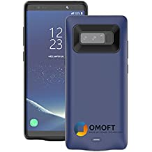 Galaxy Note 8 BATTERY Case, Omoft 5500mAh Power External Bank Charging Case for Samsung Galaxy Note 8(6.3 inch) Extended Battery life Portable Backup Smart Charger Portable Durable & fast (Blue)