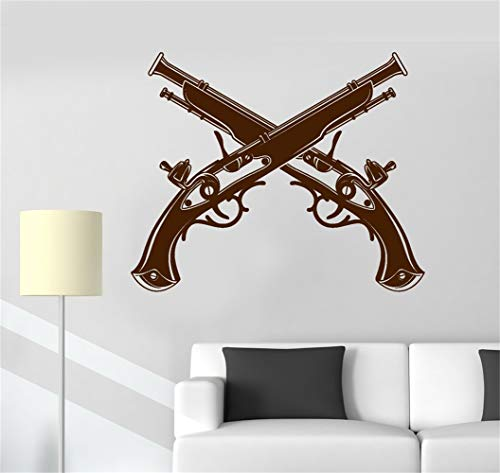 - futuka Vinyl Saying Lettering Wall Art Inspirational Sign Wall Quote Decor Revolver Pistol Duel Duelist Shooting Guns Shop