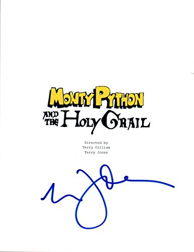 Eric Idle Signed Autographed MONTY PYTHON AND THE HOLY GRAIL Movie Script COA (Monty Python And The Holy Grail Script)