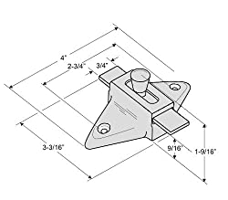"""Fix It Latch Kit for Restroom Partitions - for 1"""" Curved Edge Doors - Outswing w/Pull"""