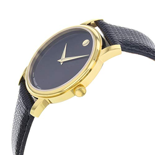 3d4b1456fd2d5 Movado Men s 2100005 Museum Gold Classic Leather Watch - Import It All
