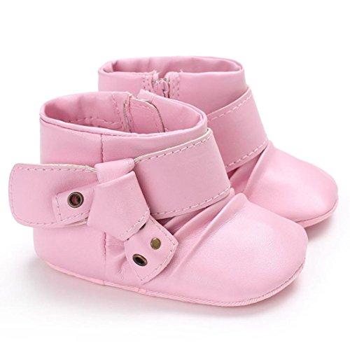 Baby Stiefel, BZLine® Babyboot Schneemiefel Mädchen Winter warm Infant Toddler Stiefel Pink