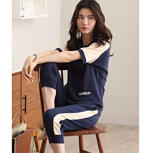 2 De Pantalones Mujer Deportivo Verano Servicio Baujuxing 100 Xl Corta Pijamas Xxl Algodón Cortos Piezas A Manga Suelto Domicilio W0F66qZE5x
