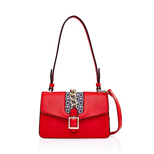 Cross Strap Adjustable Series body Bag BBFB363 Classic Dual Chain Color Design Contrast Barbie Use Shoulder Simple Bag Classic 685qxwz