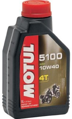 Motul 5100 4T Semi-Synthetic Motorcycle Oil 10W40 1 Quart ()