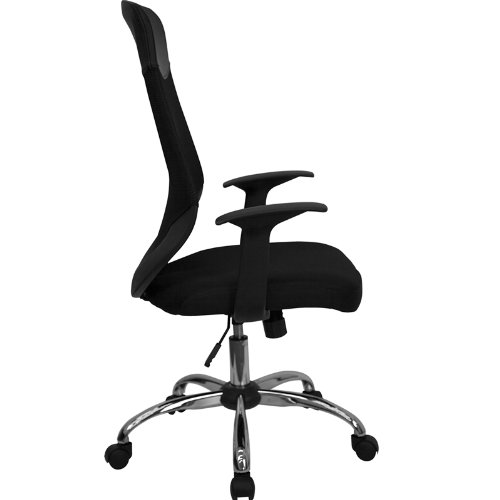 Flash Furniture High Back Black Mesh Executive Swivel Chair with Arms