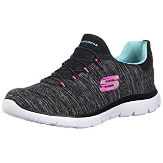 Skechers Women's Summits-Quick Getaway Sneaker, Bklb, 6 M US