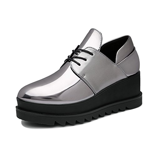JRenok Mocassins Femme Loisir Chaussures de Ville Basket Mode Cuir Sneakers Casuel Confort Antid
