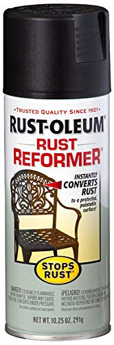 Rust-Oleum 215215 Stops Rust Rust Reformer Rust Reformer 10.25-Ounce Spray-Color Black (Best Metal Rust Paint)